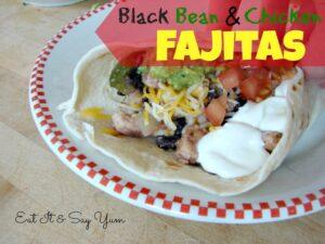 Black Bean Chicken Fajitas