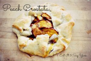 Peach Crostata text