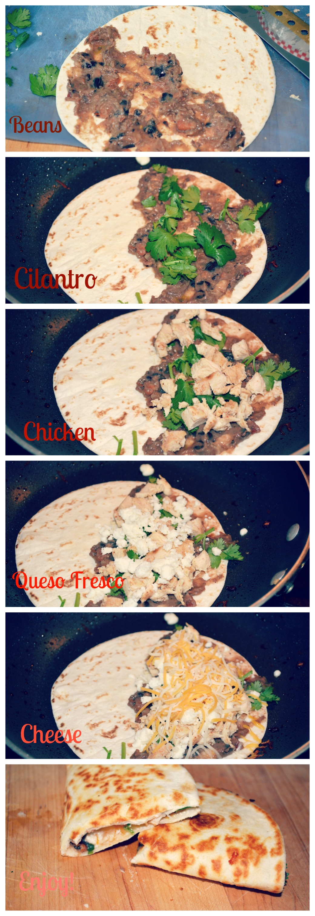Chicken Quesadillas Collage
