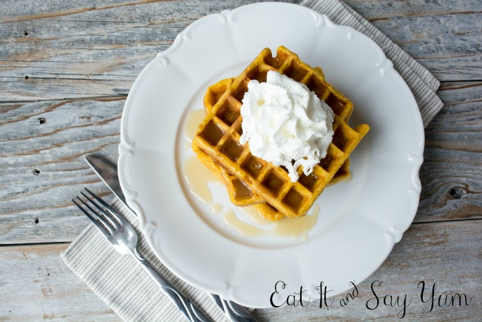 Eat It and Say Yum Pumpkin Buttermilk Waffles