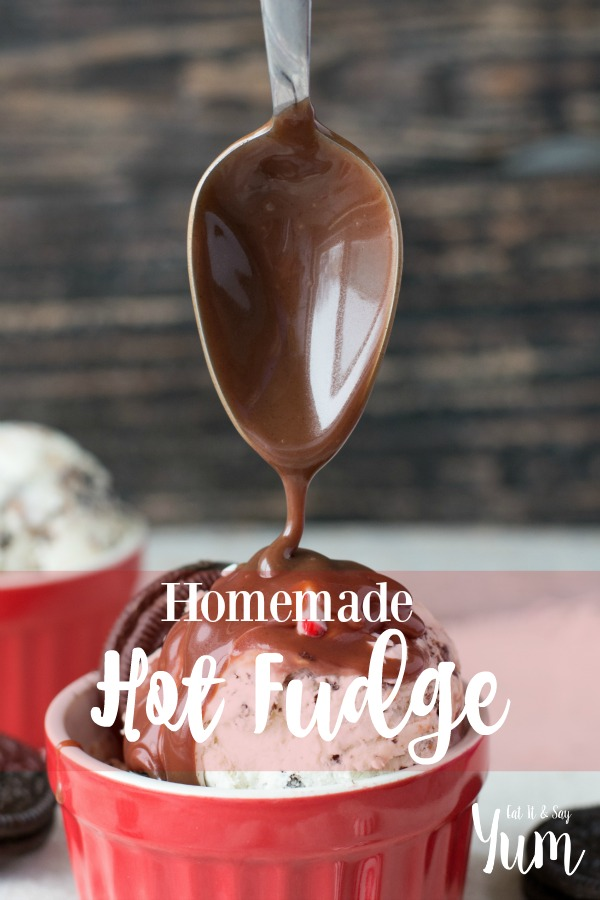 Homemade Hot Fudge Sauce recipe- so easy, and delicious