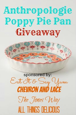 Anthro Pie Pan giveaway