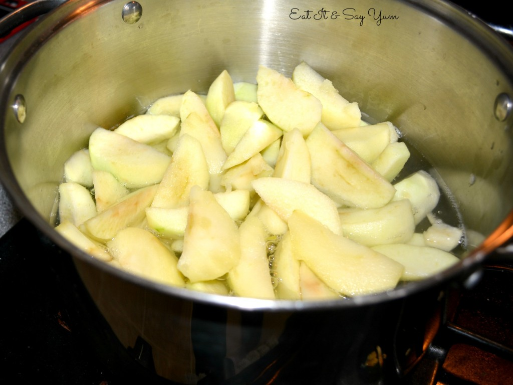 boil the apples