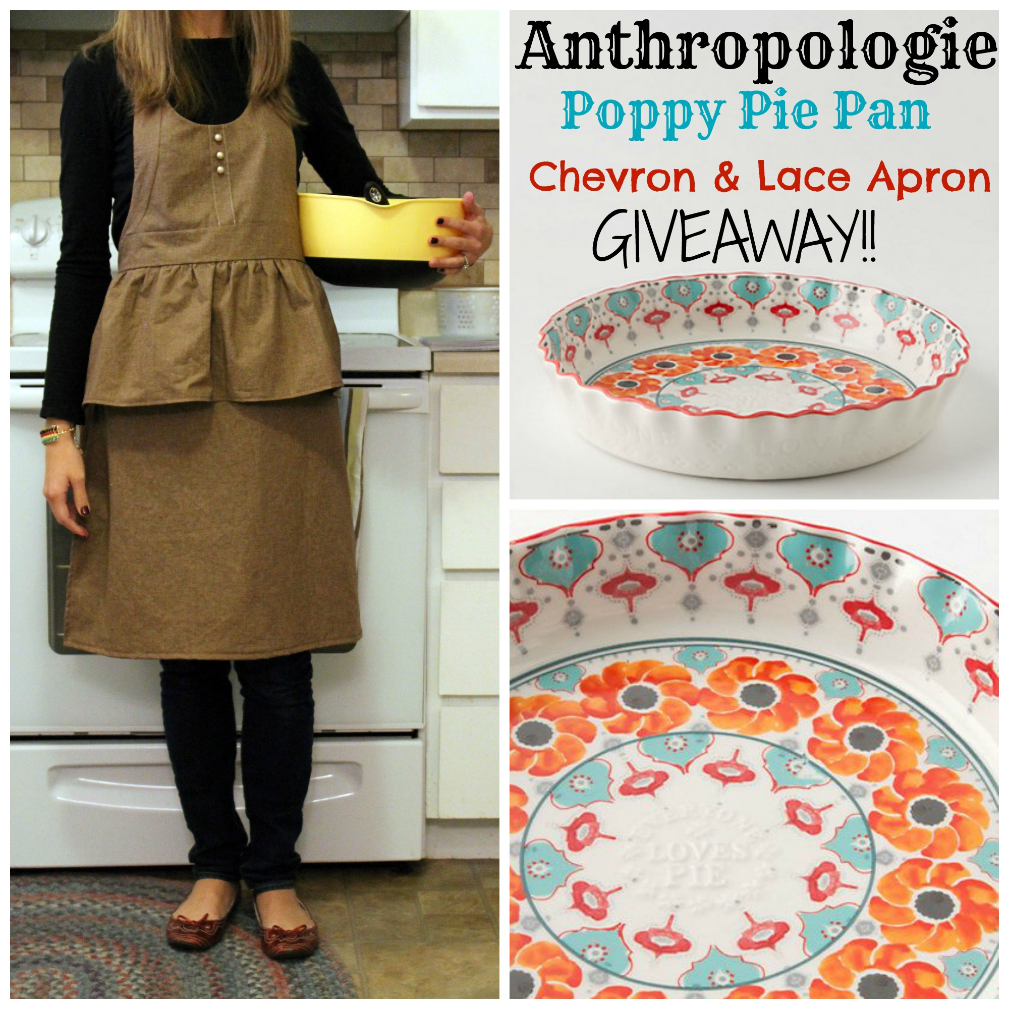 pie pan and apron collage