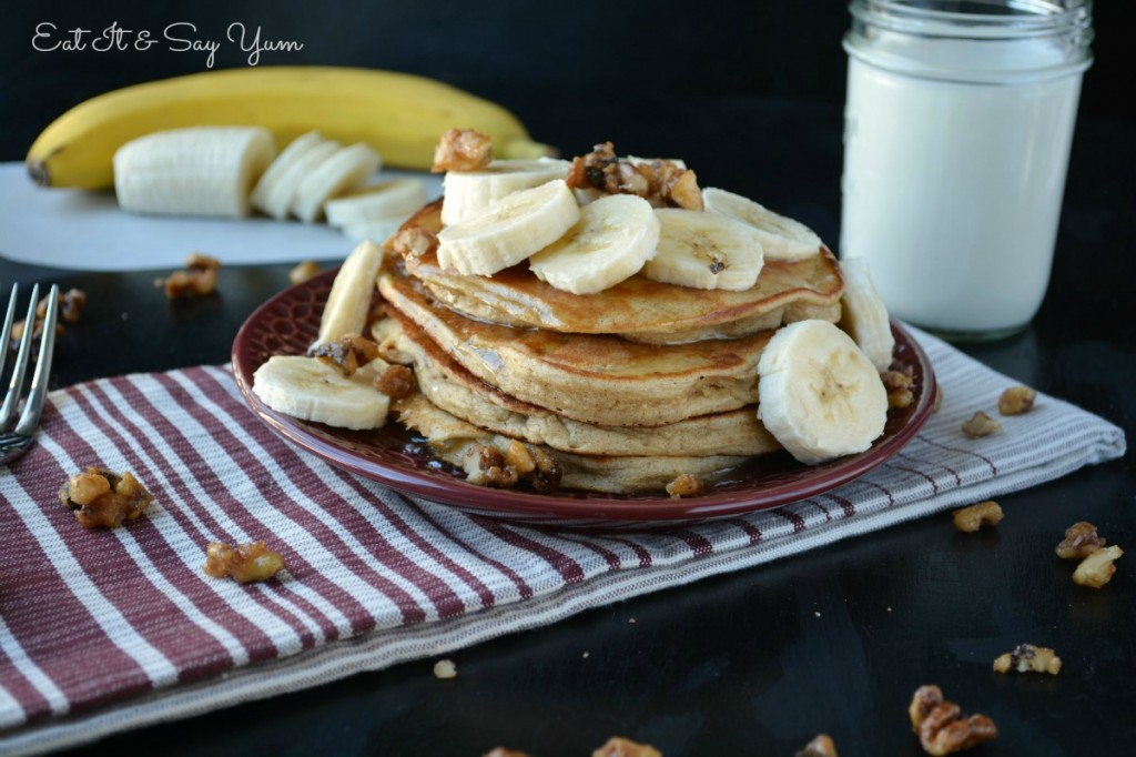 Banana Bread Pancakes from Eat It & Say Yum