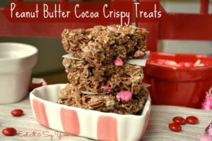 Peanut Butter Cocoa Crispies Treats