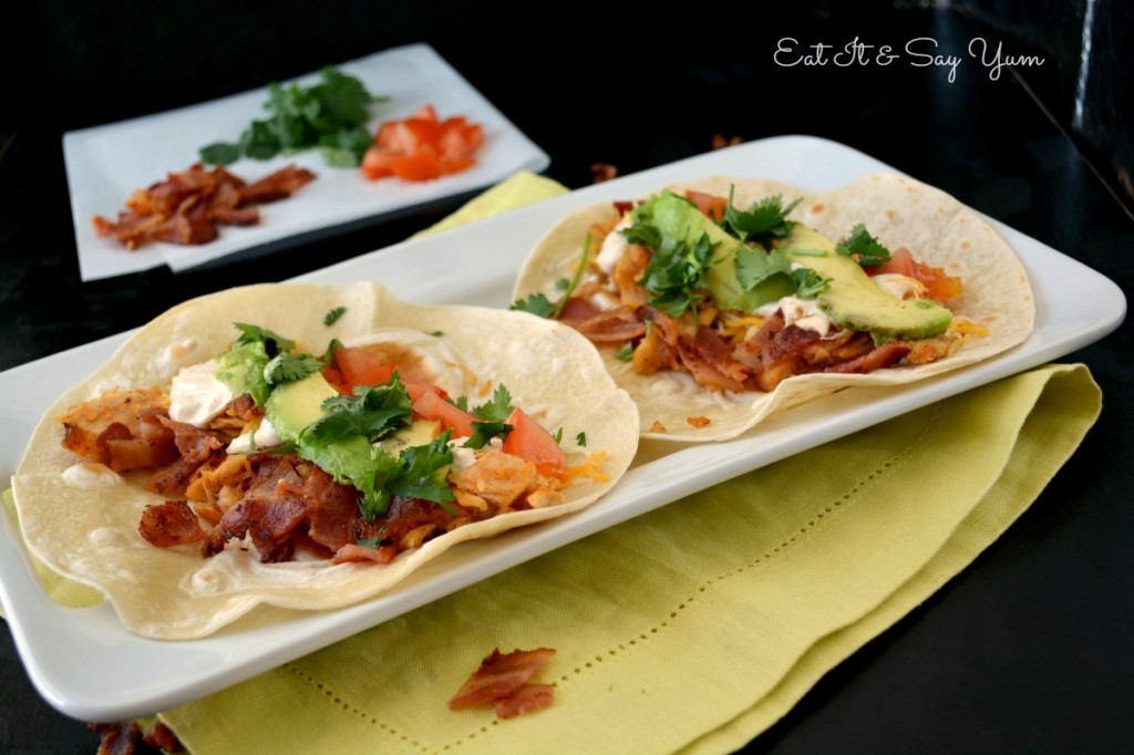 Eat It & Say Yum's Chicken Club Tacos