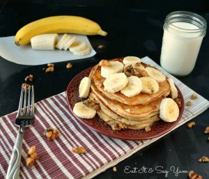 banana bread pancakes at Eat It & Say Yum