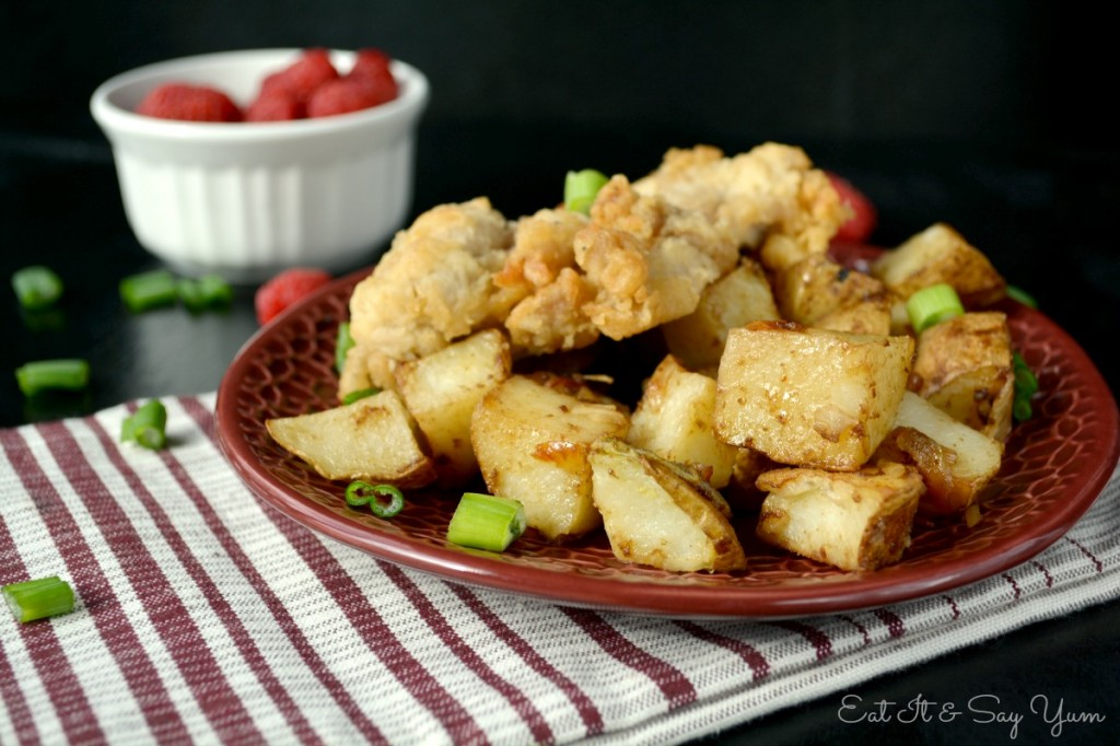 fried chicken and potatoes 469