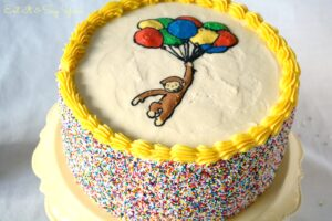 Curious George Cake with Sprinkles 451