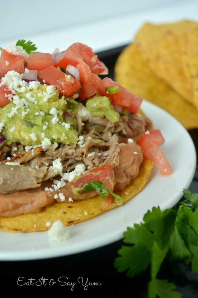 Carnitas tostadas from Eat It & Say Yum 878