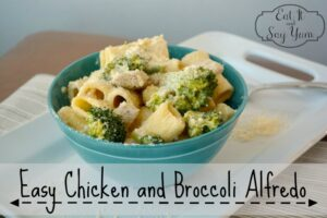 Easy chicken and broccoli alfredo from Eat It & Say Yum