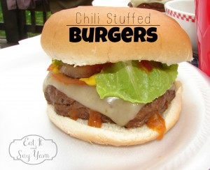 Chili Stuffed Burgers