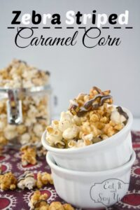 Zebra Striped Caramel Corn from Eat It & Say Yum