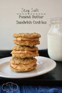 Stay-Soft Peanut Butter Sandwich Cookies from Eat It & Say Yum