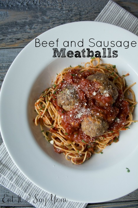 Beef and Sausage Meatballs from Eat It & Say Yum