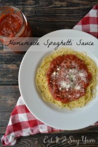Homemade Spaghetti Sauce from Eat It & Say Yum