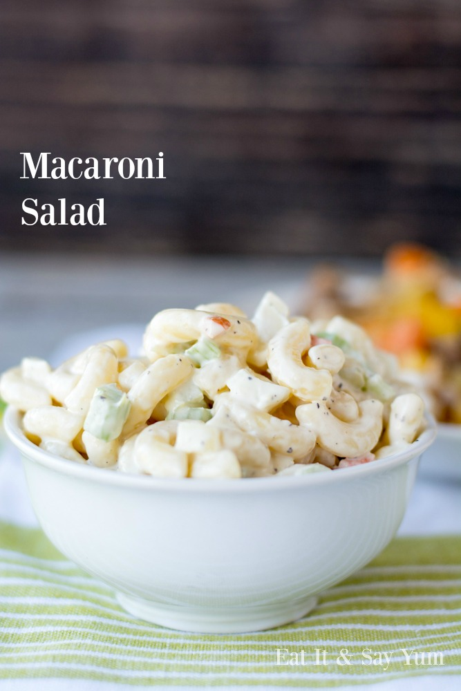 Macaroni Salad- summer side dish