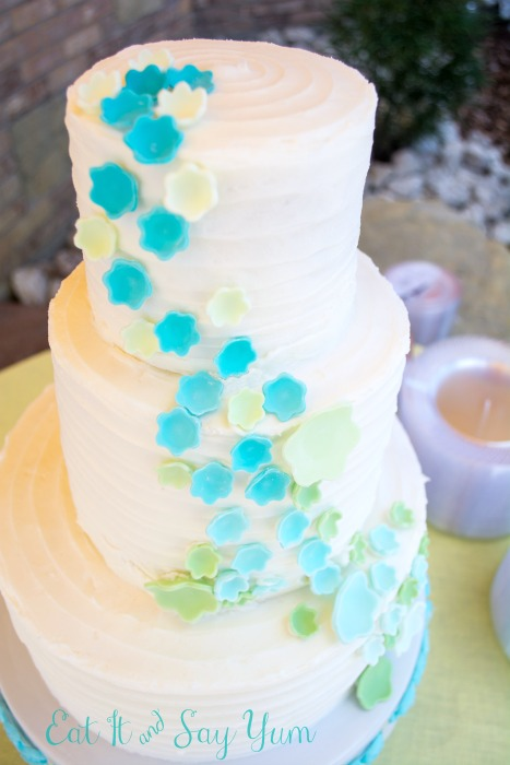 Aqua and Mint Wedding Cake from Eat It and Say Yum