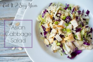 Asian Cabbage Salad from Eat It and Say Yum