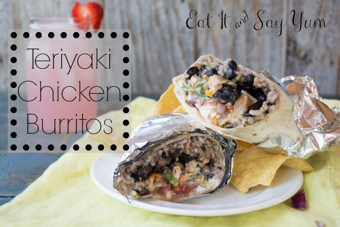Copy Cat Teriyaki Chicken Burritos from Eat It & Say Yum