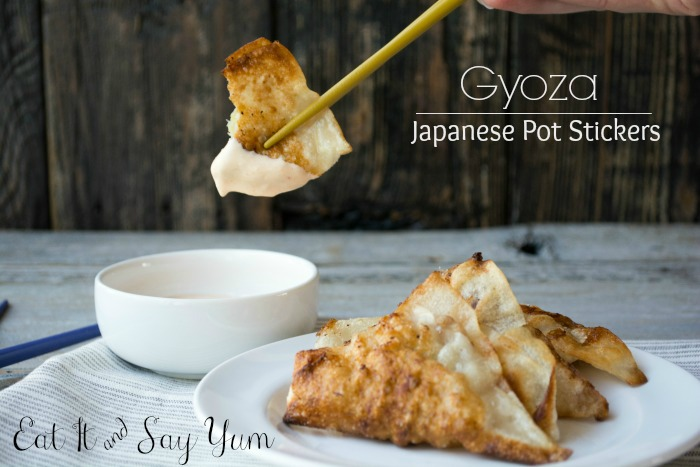 Gyoza- Japanese Pot Sticker from Eat It and Say Yum