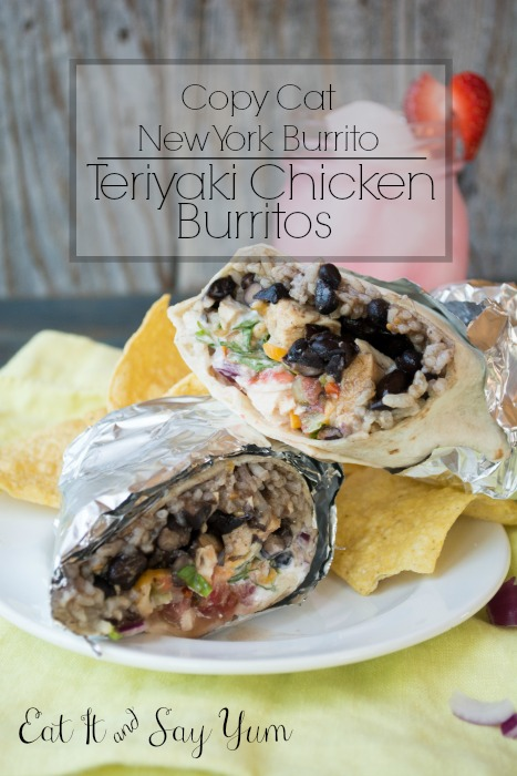 Teriyaki Chicken Burritos form Eat It & Say Yum