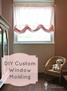 diy custom window molding