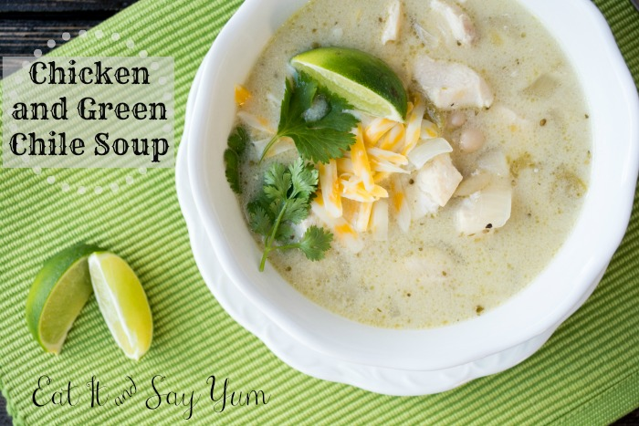 Comforting Chicken and Green Chile Soup