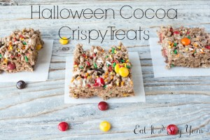 Halloween Cocoa Crispy Treats from Eat It & Say Yum