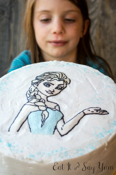 How to decorate a cake with a coloring page