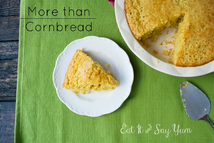 More than Cornbread, made with green chiles and cheese