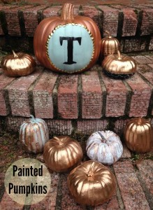 Painted Pumpkins by Paper & Fox, #fall, #pumpkin, #craft