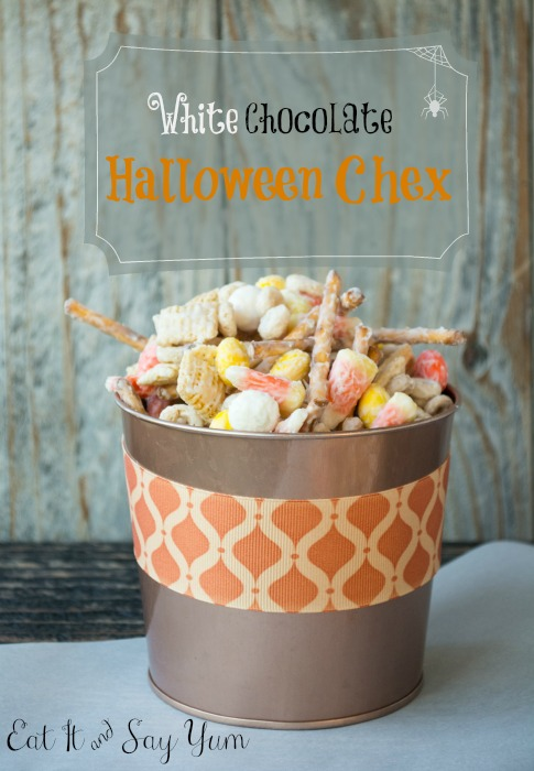 White Chocolate Halloween Chex Mix from Eat It and Say Yum