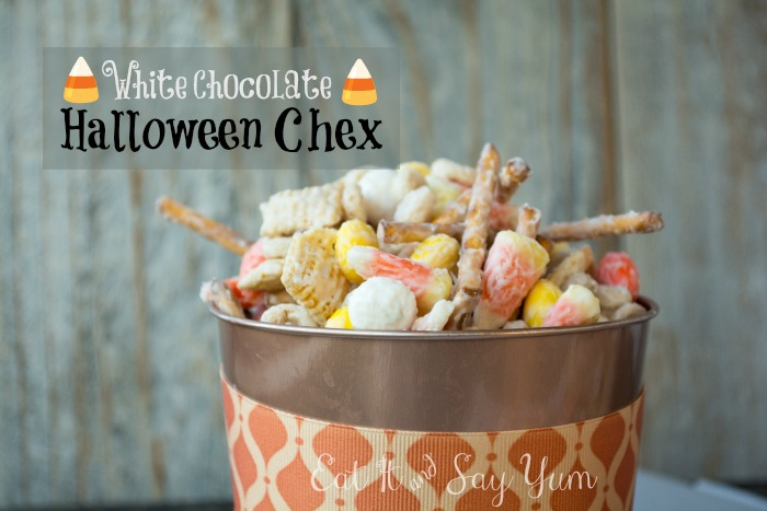White Chocolate Halloween Chex from Eat It and Say Yum