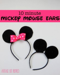 10 minute mickey mouse ears