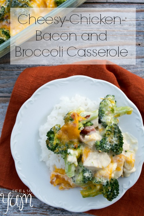 Chicken Broccoli Casserole with Cheese and Bacon from Eat It & Say Yum