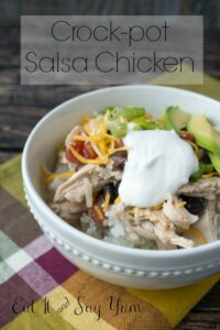 Crock-pot Salsa Chicken at Eat It and Say Yum