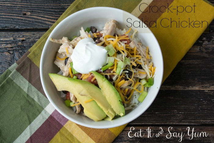 Crock-pot Salsa Chicken from Eat It & Say Yum