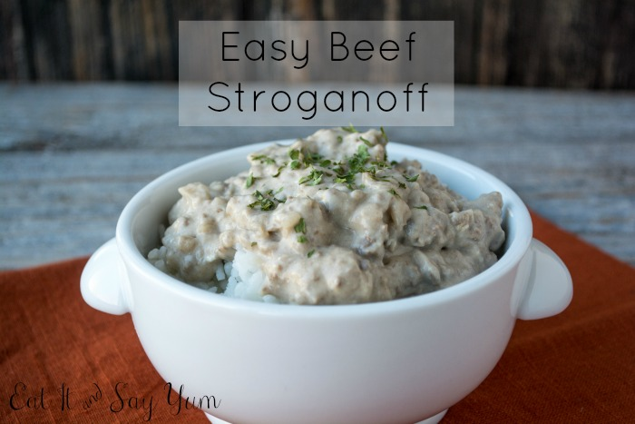 Easy Beef Stroganoff from Eat It & Say Yum