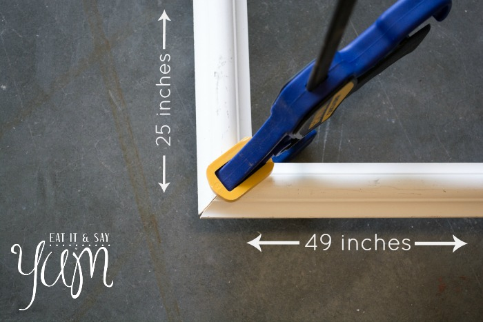 Measurements for cutting a frame