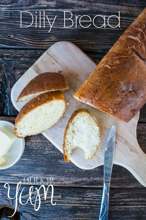 Dilly Bread- an easy bread made with onions, cottage cheese, and dill