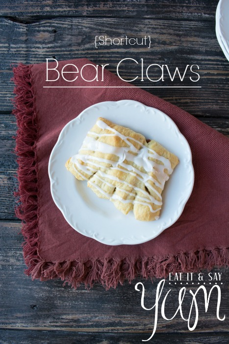 Easy Bear Claws for breakfast, perfect for the holidays