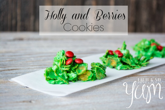 Holly and Berries Cookies from Eat It & Say Yum