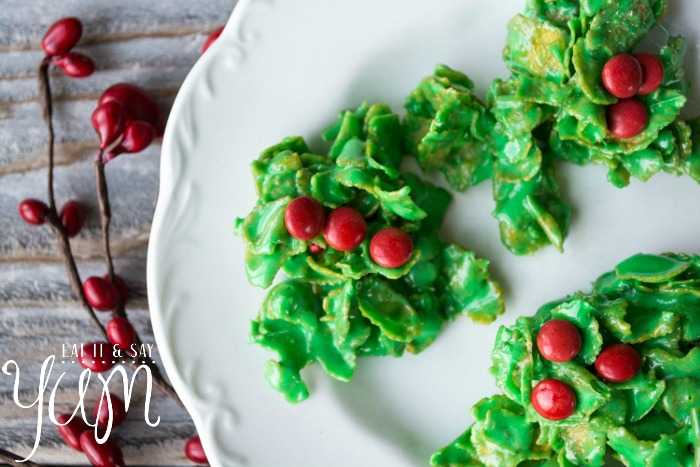 Holly and Berries Wreath Cookies from Eat It and Say Yum