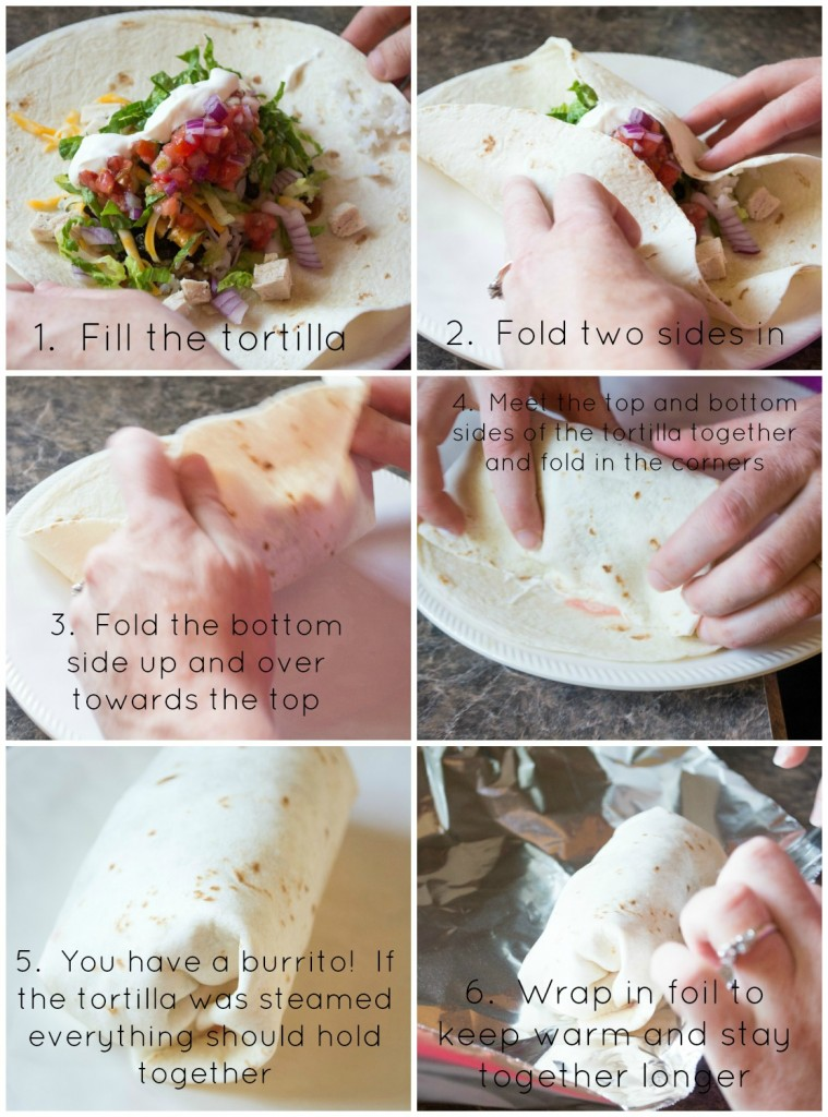 How to fold a burrito- Eat It & Say Yum