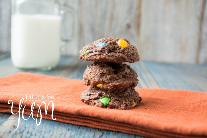 Chocolate Peanut Butter Cookies from Eat It & Say Yum