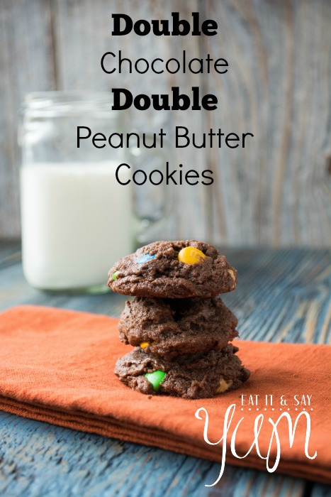 Double Chocolate Double Peanut Butter Cookies from Eat It & Say Yum