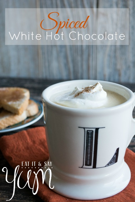 Spiced White Hot Chocolate from Eat It & Say Yum
