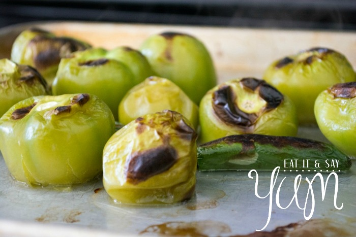 Blistered and Blackened Tomatillos for Green Salsa